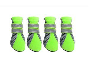 4x wasserdicht Hundeschuhe Pfotenschutz Hundestiefel Anti-Rutsch Schuhe
