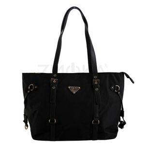 Jennifer Jones - Damen Handtasche Damentasche Schultertasche - Schwarz