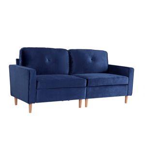 3-Sitzer Sofa, Couch für Wohnzimmer, gemütlich moderne Couch mit dezenten Designelementen, Federkern und loser Rücken, 194*76*90cm