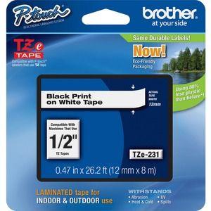 Etikettenband Brother P-touch TZE231 - 11,94 mm - Rechteck - Weiß - 1 Each