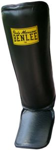 BENLEE Rocky Marciano Box-Schienbeinschoner Uni – Erwachsene Schwarz, Größe:S/M
