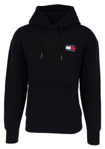 Tommy Hilfiger Herren Pullover Sweatshirt mit Kapuze, langarm, Größe:L, Farbe:schwarz (bds)