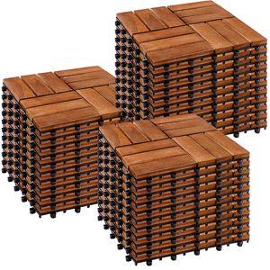 STILISTA 33er Set Akazie Holzfliesen Mosaik