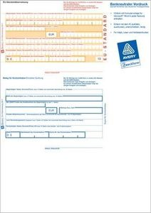 "AVERY Zweckform Vordruck ""SEPA Standardüberweisung"" DIN A4 100 Stück"