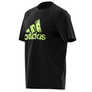 adidas T Shirt Herren Rundhals aus 100% Baumwolle, Größe:M, Farbe:Schwarz