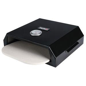 TAINO Pizza-Box Grill-Box Grill-Auflage BBQ-Aufsatz Grillzubehör Pizza-Ofen Pizza-Aufsatz 42 x 36 cm Pizza-Stein