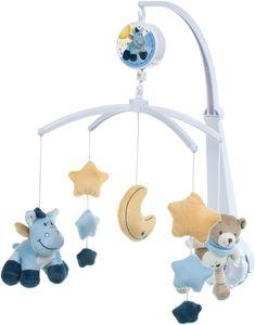 Bieco Musik Mobile Baby, Design: Bär Esel   Ø 31 cm Höhe 60 cm   Baby Einschlafhilfe, Spieluhr Baby   Babybett Spielzeug   Mobile Baby Musik   Baby Toys 0-6 Months   Melodie: LaLeLu