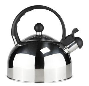 Edelstahl Flötenkessel Wasserkessel Teekessel Wasserkocher Pfeife Induktion 2,5L