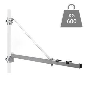 Schwenkarm Halterung Seilzug 600kg 110cm Seilwinde Seilhebezug Halterung Träger