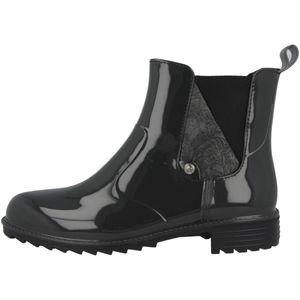 Rieker P8162-45 Schuhe Damen Gummistiefel Chelsea Boots Stiefeletten Warmfutter, Größe:38 EU, Farbe:Grau