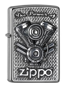 ZIPPO Feuerzeug 2005714 V Motor Emblem