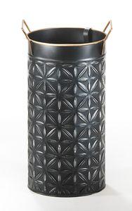 Schirmständer STROKE - schwarz - Metall - ohne Deko