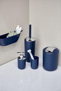 WC-Garnitur Klobürste Toilette Bürsten-Halterung Dunkelblau
