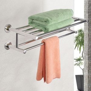 NEUFU Doppel Wand Handtuchhalter Handtuchstange Badetuchhalter 6 Stangen Edelstahl