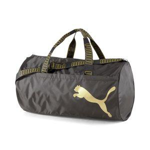 Puma At Ess Barrel Bag Puma Black-Metallic Gold -