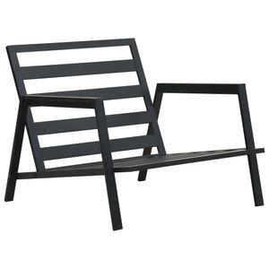 dereoir 5-tlg. Garten-Lounge-Set mit Auflagen Aluminium Dunkelgrau