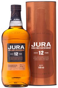 Jura 12 Jahre Single Malt Scotch Whisky in Geschenkpackung | 40 % vol | 0,7 l