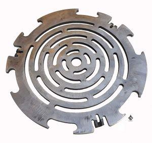Grillrost | Grilleinsatz 6mm für Feuerplatte | Grillplatte mit 20cm Feuerloch
