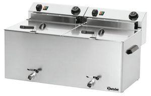 Elektro-Doppel-Fritteuse Professional II mit Fettablasshahn