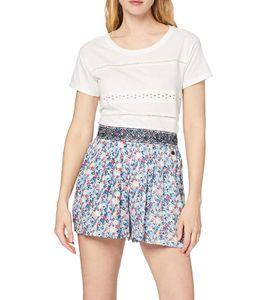 Pepe Jeans Freizeit-Shorts coole Damen Sommer-Hose mit Allovermuster Bunt, Größe:XS