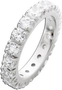 Silberring weißen Zirkonia Silber 925 Memoire Ring  18