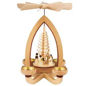 Teelichtpyramide klassisch, Modell:Engel