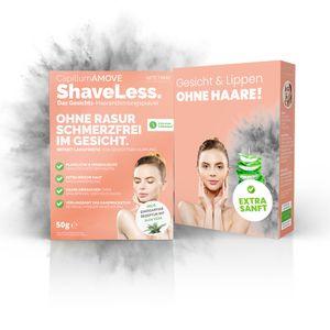 50g Capillum AMOVE ShaveLess Gesicht & Lippen schmerzfreies Enthaaungscreme Pulver - Frauen ohne Rasur für sensible Haut ohne Zusatzstoffe