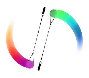 Leuchtpoi für Spinnen Schwingen Bauchtanz LED Poi mehrfarbiger Nachtleuchtender Poi