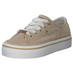 Tommy Hilfiger Damen Sneaker Sneaker Low Textil beige 39