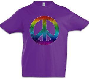Rainbow Peace Symbol Kinder Jungen T-Shirt, Größe: 4 Jahre