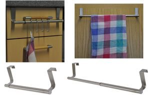 Teleskop Türanhänger/Schubladenanhänger Handtuchhalter Jackenhalter 22-35cm, Modell:ohne Haken