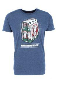 Derbe Hamburg - Herrenhandtasche Reloaded Herren T-Shirt, Größe:S, Derbe Hamburg Farben:Navy Melange