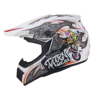Mejia Crosshelm für Kinder mattweiß Motocrosshelm Helm Kinderhelm Endurohelm  M