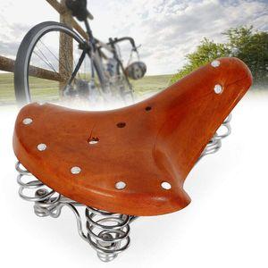 Fahrradsattel Fahrradsitz Ersatz Vintage Echtleder Vordersitz für City Bike Mountainbike Rennrad