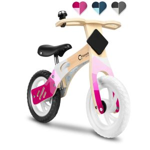 Lionelo Willy Holzlaufrad Laufrad kinder fahrrad kinderspielzeug kinderlaufrad Rosa