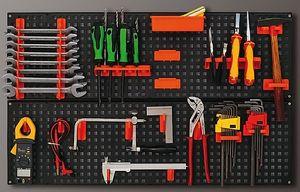 Werkzeugwand Werkzeug Kunststoff schwarz Werkzeughalter 80 x 50 cm Garage