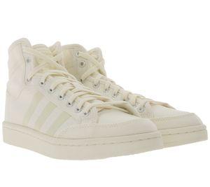 adidas Originals Americana Decon Basketball-Schuhe schlichte High Top Sneaker Weiß, Größe:46 2/3