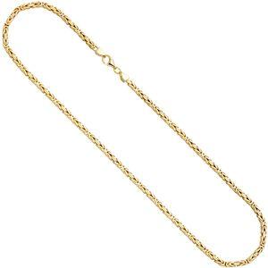 Königskette 925 Sterling Silber gold vergoldet 3,2 mm 45 cm Kette Halskette