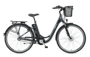 Telefunken E-Bike 28 Zoll Elektrofahrrad - 3-Gang Nabenschaltung mit Rücktritt, Pedelec Citybike mit Fahrradkorb, Frontmotor 250W /10,4Ah / 36V Sitzrohrakku, RC830 Multitalent