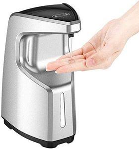 Automatisch Desinfektionsspender Sprühspender mit Sensor Elektrischer Seifenspender für Küchen und Badezimmer Waschraum/öffentlicher Ort 450ml klar Flasche