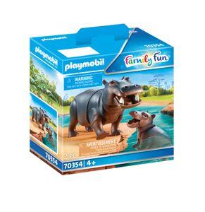 PLAYMOBIL 70354 Flußpferd mit Baby