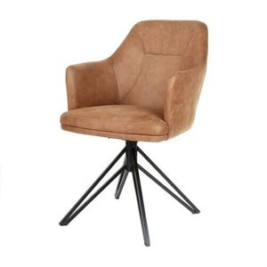 Stuhl Calvin Armlehnenstuhl Farbe Cognac Esszimmerstuhl Mit Armlehnen  Stuhl Sessel
