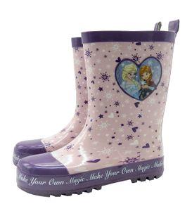 Mädchen Gummistiefel Frozen Anna Elsa rosa Regenstiefel Stiefel Schuhe rosa, Schuhgröße:EUR 27/28