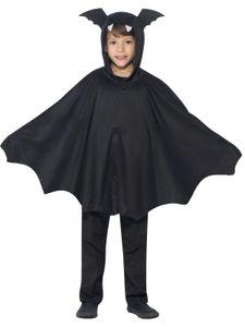 Kinder Kostüm Fledermaus Cape Umhang Halloween 8 bis 12 Jahre