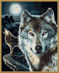 Noris Spiele Malen nach Zahlen - Wölfe; 609240660