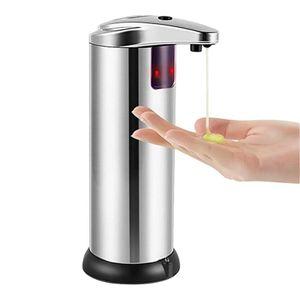 Automatischer Sensor Seifenspender,berührungsloser Flüssigkeitsspender aus Edelstahl, Handwäsche für Küche und Bad, Desinfektionsmittel, Shampoo, Lotion