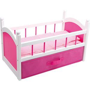 Small Foot 2936 Puppenbett 'Pink' mit faltbarer Lade, pink (1 Stück)