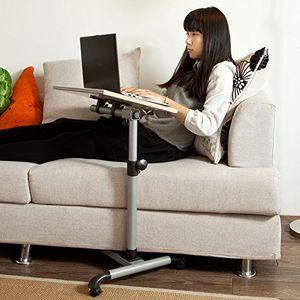 SoBuy Pflegetisch,Betttisch,Laptoptisch, Beistelltisch,FBT07N-W