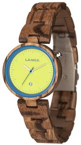 Laimer 0053 Holz Damen-Armbanduhr Nicky Blau