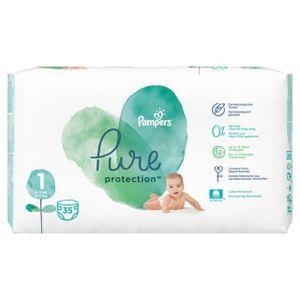 Pampers Pure Protection Gr. 1 Newborn 2-5 kg Tragepack, 35 Stück - Größe 1 - 35 Stück